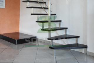 23s - schody samonośne, sztycowe